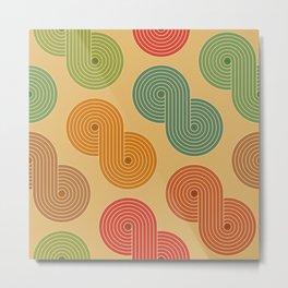 Retro Striped Pattern 18 Metal Print
