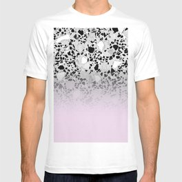 Concrete and Black Marble Mix Pink Gradient T-shirt