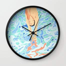 Munich Olympic Diver Poster by David Hockney - 1972 Olympics Wall Clock