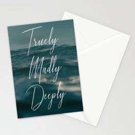 truely madly deeply Stationery Cards