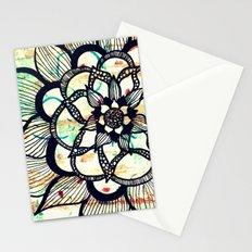 Vintage big flower collage Stationery Cards