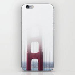 Golden Gate Bridge in Fog iPhone Skin