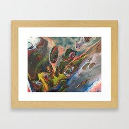 Inside a lava lamp Framed Art Print