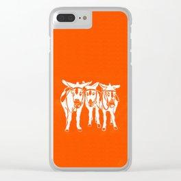Seaside Donkeys in Orange Clear iPhone Case