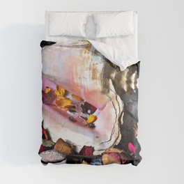 Maritime Symphony with Sea Shells and Roses Comforters