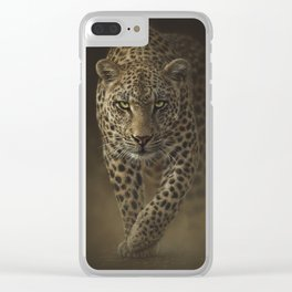 Leopard Prowling - Savage Clear iPhone Case