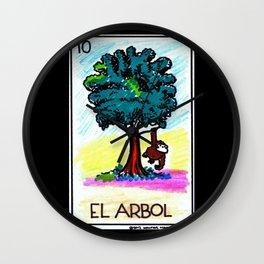 Loteria Ape #10: El Arbol Wall Clock