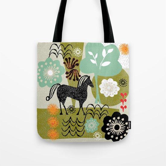 magical horse garden Tote Bag