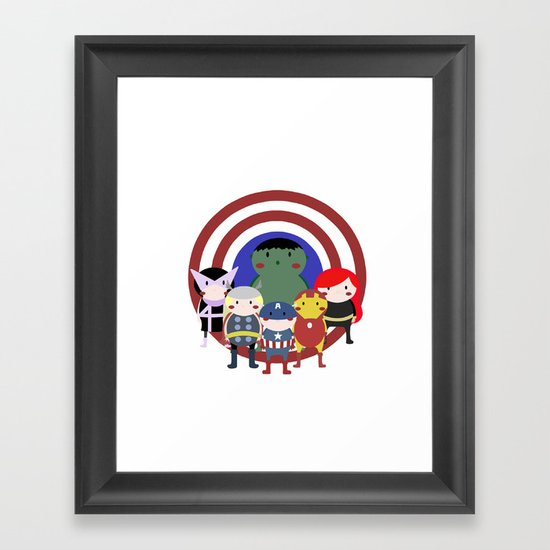 Hello Avengers Framed Art Print