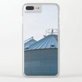 Grain Bins on the Farm Clear iPhone Case