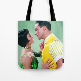 Gene Kelly & Cyd Charisse - Green - Singin' in the Rain Tote Bag