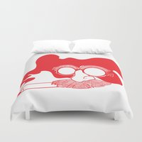 marx Duvet Covers featuring Groucho Marx by Stephanie Keir