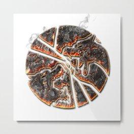 Magma Emblem on white Metal Print