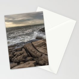 Lanescove sunset after the storm Stationery Cards