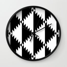 Aztec 3 B&W Wall Clock