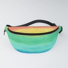 Colorful Watercolors Brush Strokes Fanny Pack