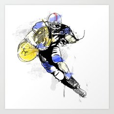 French Horn Football Art Print
