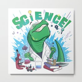 Science-asaurus - I did a science! Metal Print