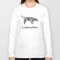 labrador Long Sleeve T-shirts featuring Labrador Scribble by Jake Stanton