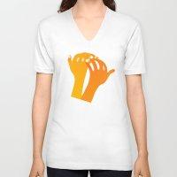 hands V-neck T-shirts featuring hands by alex eben meyer
