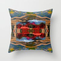 china Throw Pillows featuring China. by Grant Pearce
