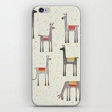 Llamas in the Meadow iPhone & iPod Skin