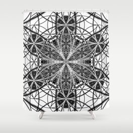 Down That Rabbit Hole - The Sacred Geometry Collection Shower Curtain