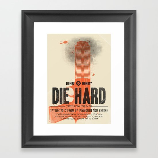 Die Hard (Full poster variant) Framed Art Print