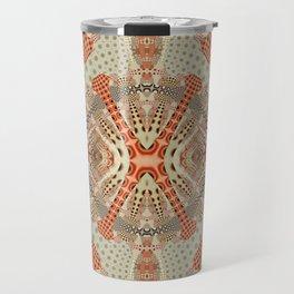 Playful retro patterns in fall colors Travel Mug
