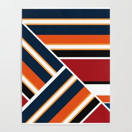 Retro . Combined stripes . Poster