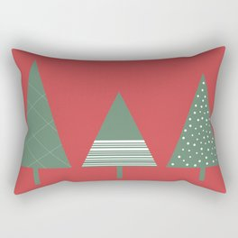 Holiday Trees, Festive, Print Rectangular Pillow