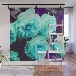 Light blue Rose Kathryn Wall Mural