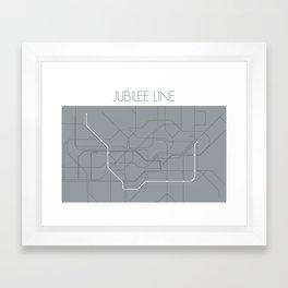 London Underground Jubilee Line Route Tube Map Framed Art Print