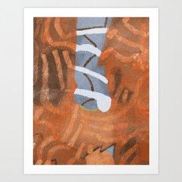 Moon Ripple Art Print