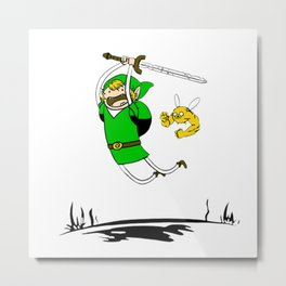 zelda antque irish green Metal Print