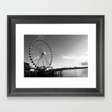Seattle Great Wheel Framed Art Print