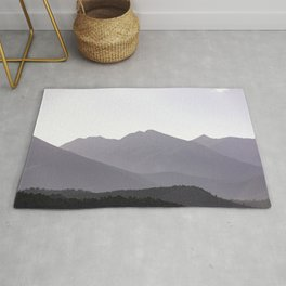 Rocky Mountain Sunset - Colorado Nature Photography Rug