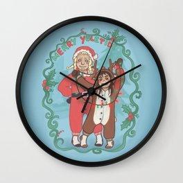 Merry Yuletide Wall Clock
