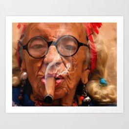 Smoking - Caribbean Serie Art Print