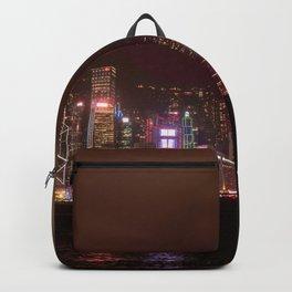 Hong Kong Island Skyline at Night Backpack