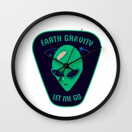 Earth gravity, let me go Wall Clock