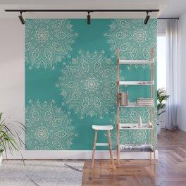 Teal and Lace Mandala Wall Mural