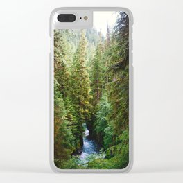 Evergreen River Clear iPhone Case