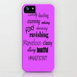 Words iPhone Case