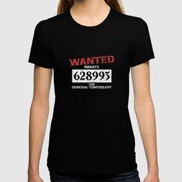 Wanted Criminal Inmate Prisoner Costume Supplies Decoration T-shirt