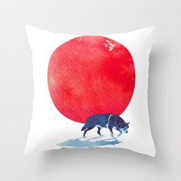 Fear the red Throw Pillow