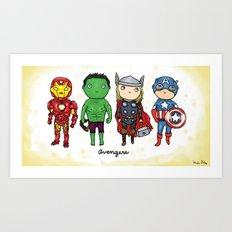 Super Cute Heroes: Avengers! Art Print