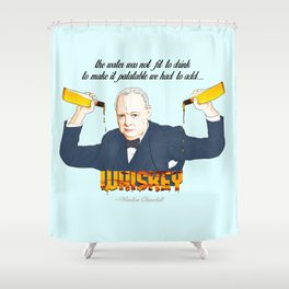 WINSTON AND WHISKEY  Shower Curtain