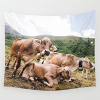 switzerland Wall Tapestries featuring From Switzerland with Love by Tomas Hudolin