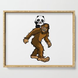 Gone Squatchin with Panda Serving Tray